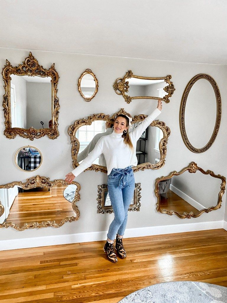 Mirror Wall Design Tutorial In 2020 Mirror Gallery Wall Mirror Wall Mirror Gallery