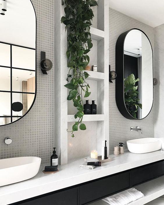 Ideas #bathroom design Modest Modern Decor Ideas   badkamer ...