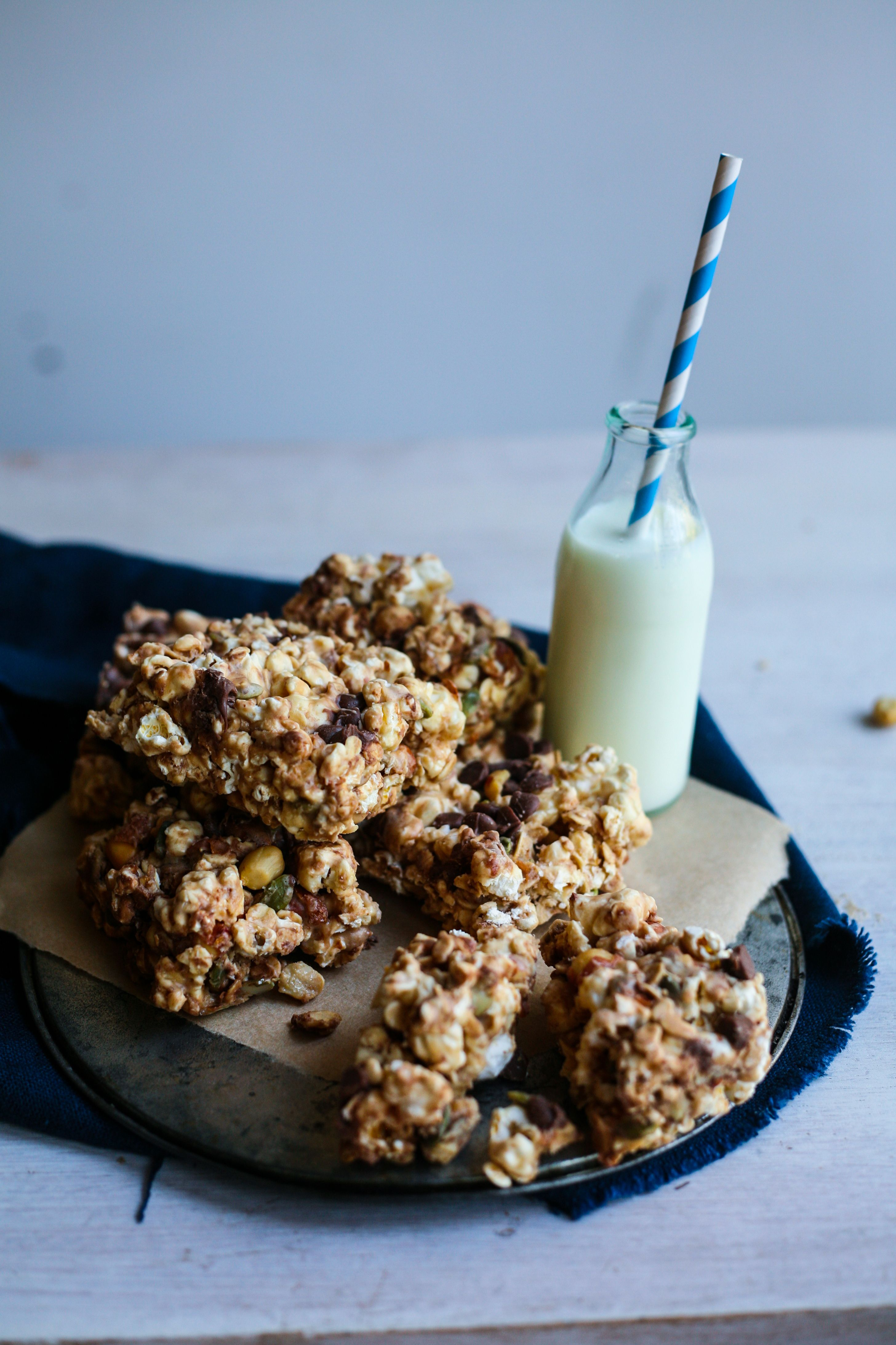 The Student Blogger Series; The On-the-Go Student ~ Salted Caramel Popcorn Trail Mix Bars