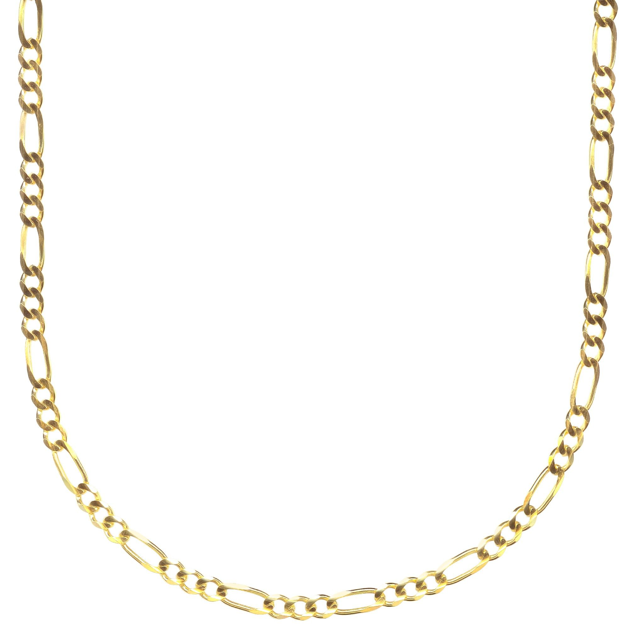 18k Gold Filled Figaro Mens Boys Chain Necklace All Sizes
