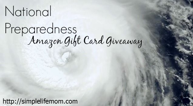 National Preparedness $100 Amazon Gift Card Giveaway