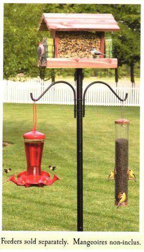 Birding Essentials Bird Feeder Pole Plus By Cedar Works 27 95 Bird Feeder Poles Bird Feeder Hangers Bird Feeders