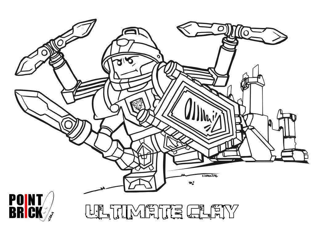 Coloring Pages Nexo Knights : Disegni da colorare lego nexo knights ultimate clay