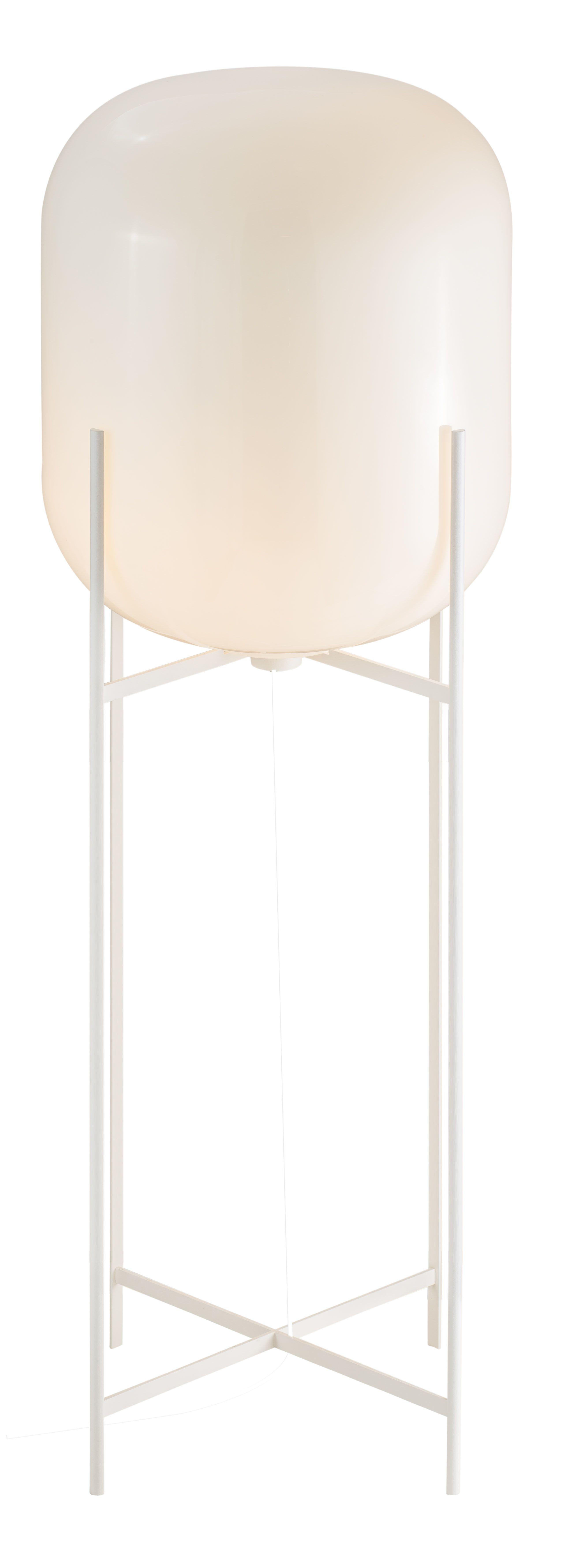 Floor Lamp Oda Big By Sebastian Herkner For Pulpo Materials Colors White Glass White Powder Coated Steel Lamp White Glass Floor Lamp