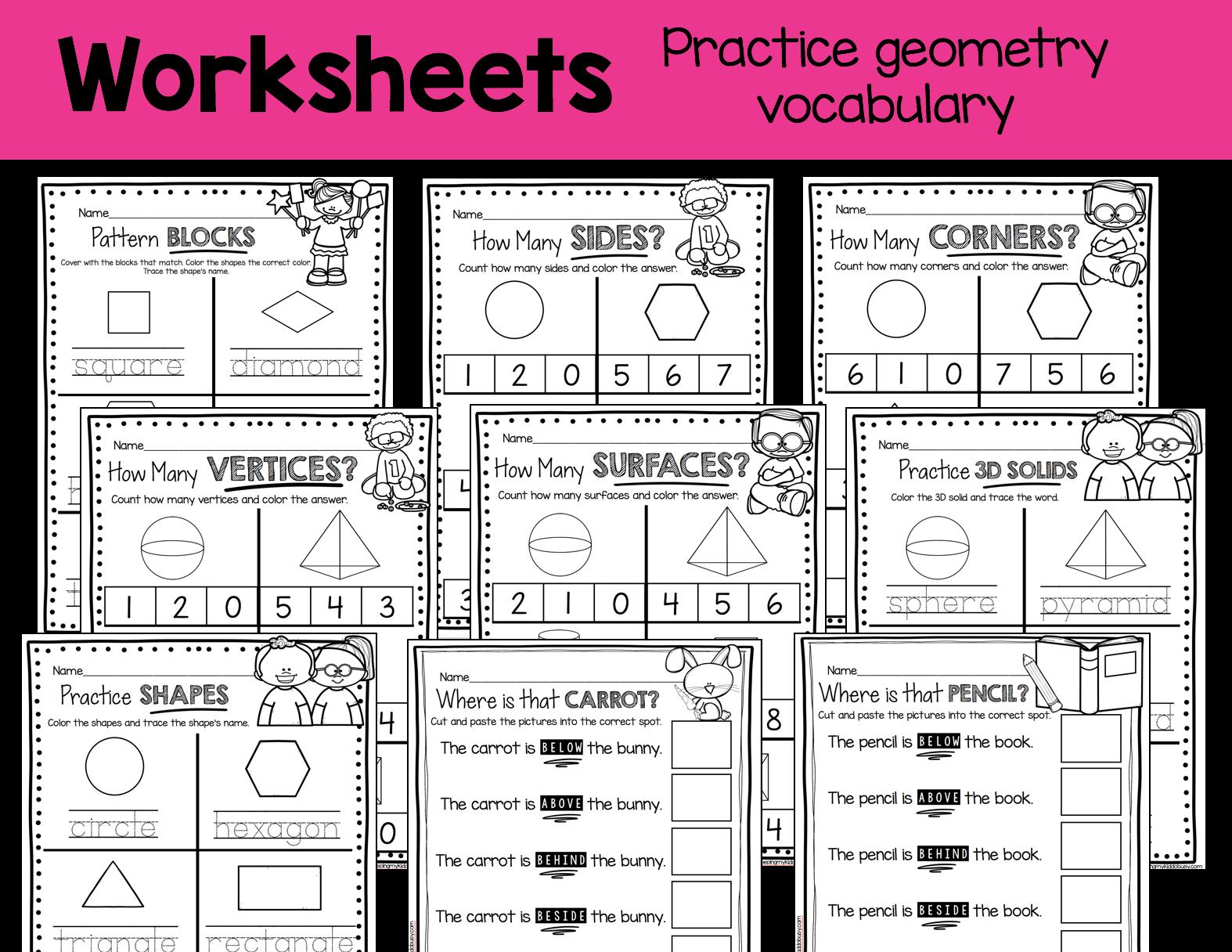 Kindergarten Geometry Unit Freebies