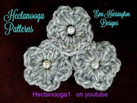 How To Crochet Button Flowers Crochet Flower Easy Crochet Pattern