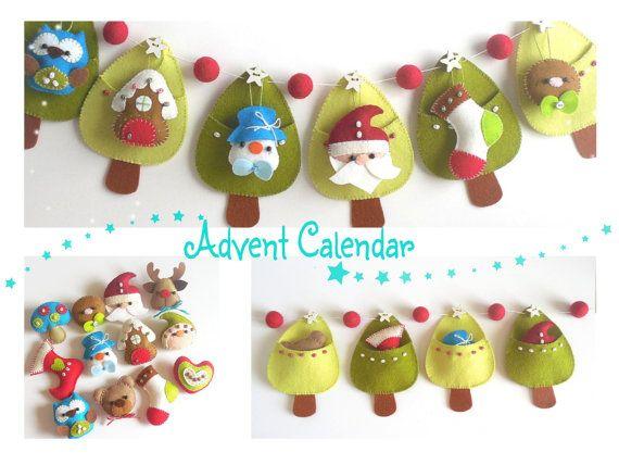 Christmas Advent Calendar PDF von LittleThingsToShare auf Etsy ...
