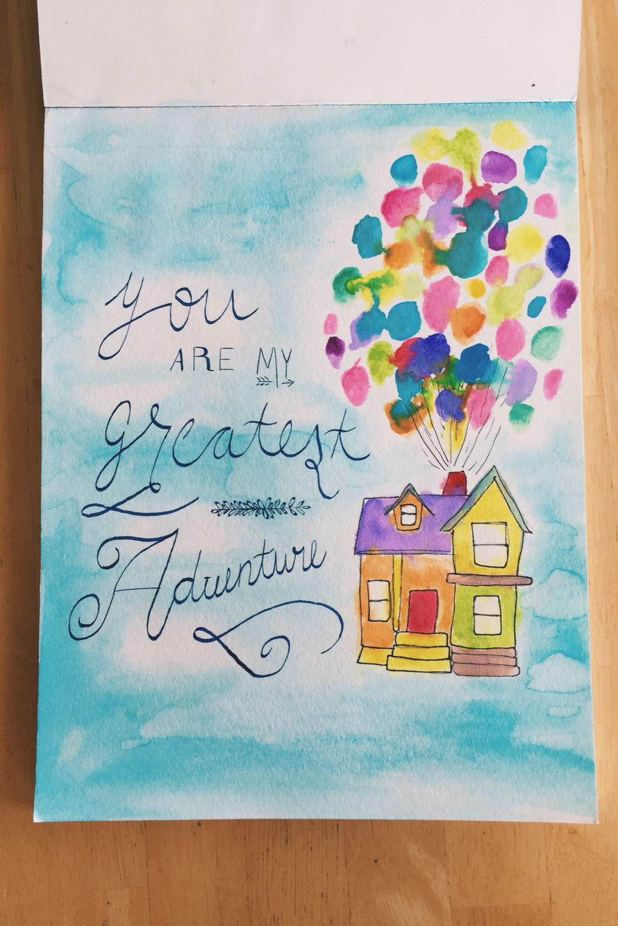 you are my greatest adventure up disney calligraphy quotes