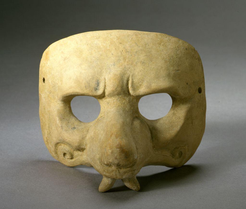 Jaguar Half-Mask. Mayan, ca. 600-900