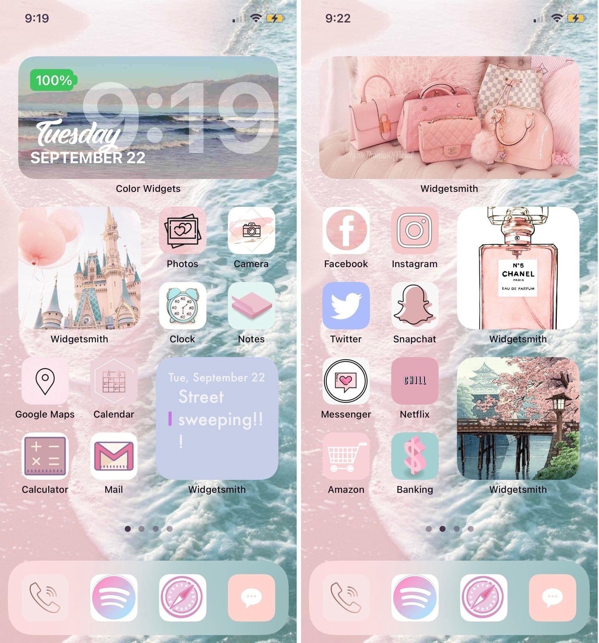 Ios 14 Setup Iossetups Iphone Wallpaper App Homescreen Iphone Iphone Organization