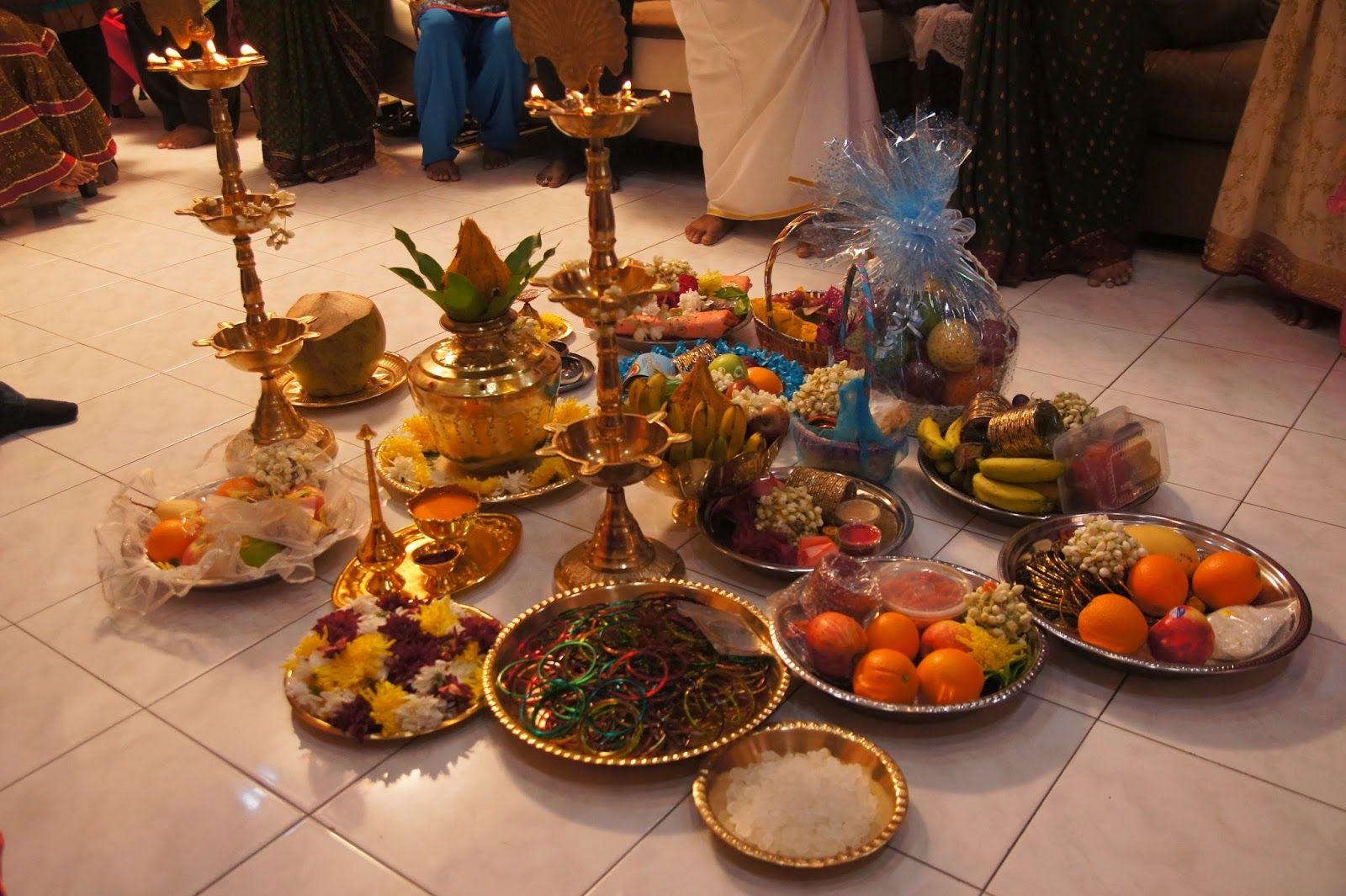 Our lil bundle of joy valaikappu aka bangle ceremony for Baby tray decoration
