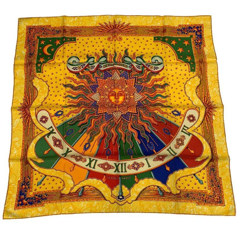 Photo of HERMES Scarf 'Carpe Diem' in Multicolored Silk