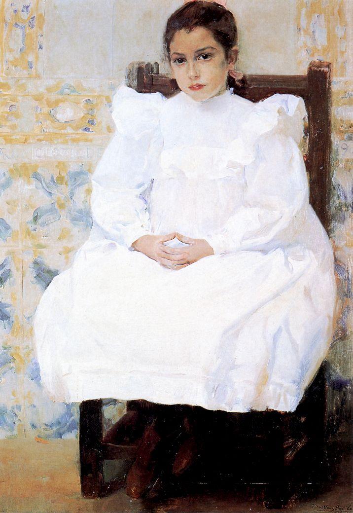 Joaquín Sorolla y Bastida. Mariana de Pontejos, 1900. Oil on Canvas. 43.31…