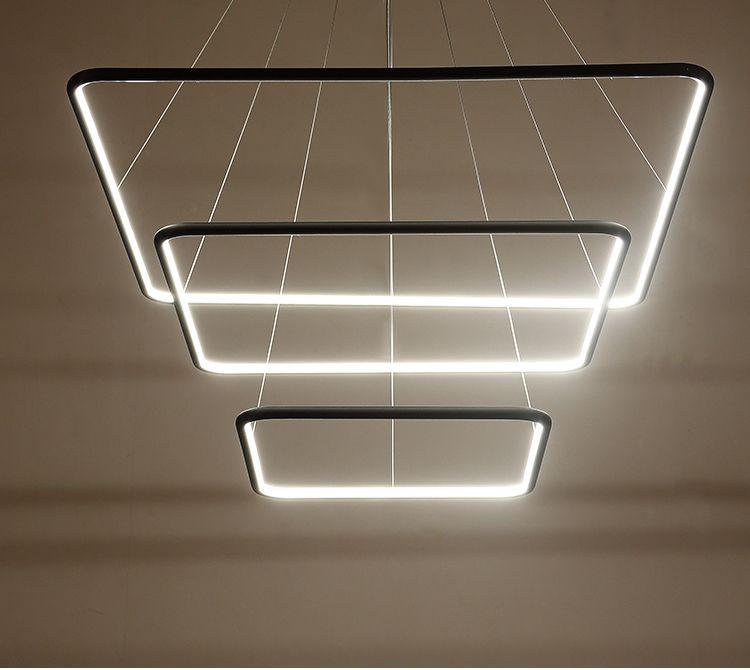 Slim Light Lampa Wiszaca Led Square Inside Triple Czarny Sld 000005 3000 B Lampa Wiszaca Lampy Czworokat