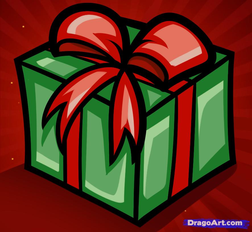 Подарок картинки нарисовать
