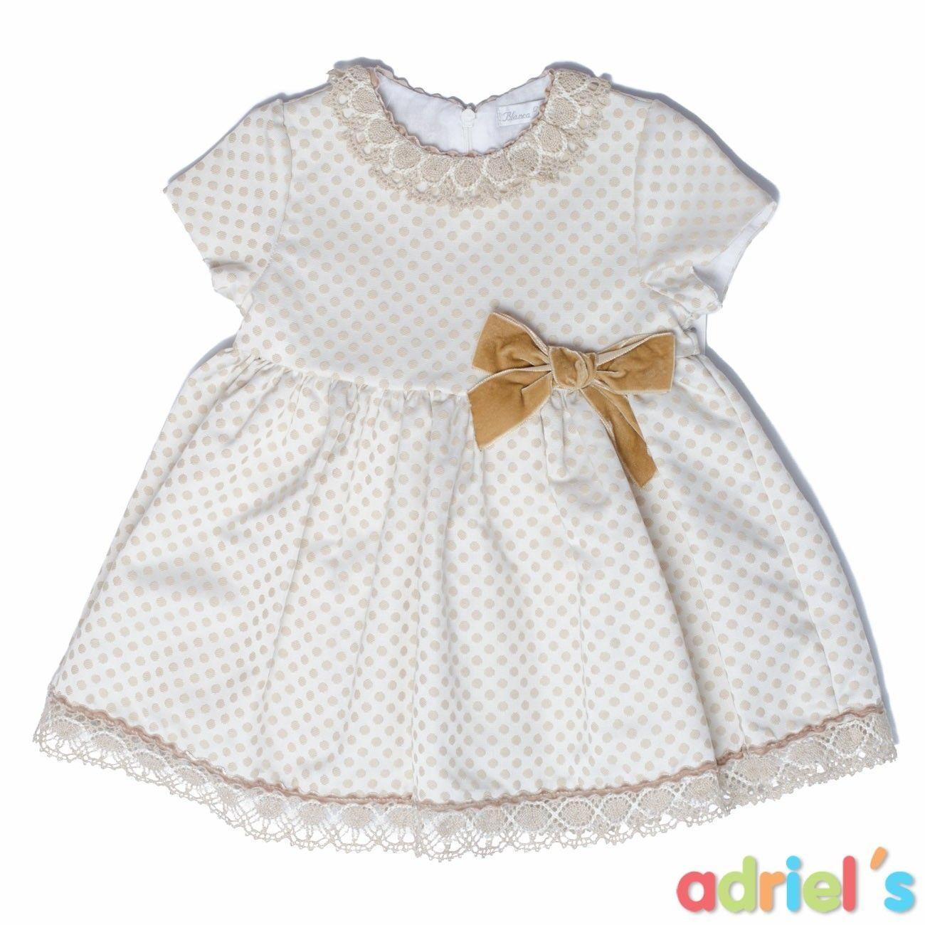 c3110c068 ¡Encuentra las mejores oportunidades en el OUTLET de Adriels Moda Infantil!  Vestido beige para