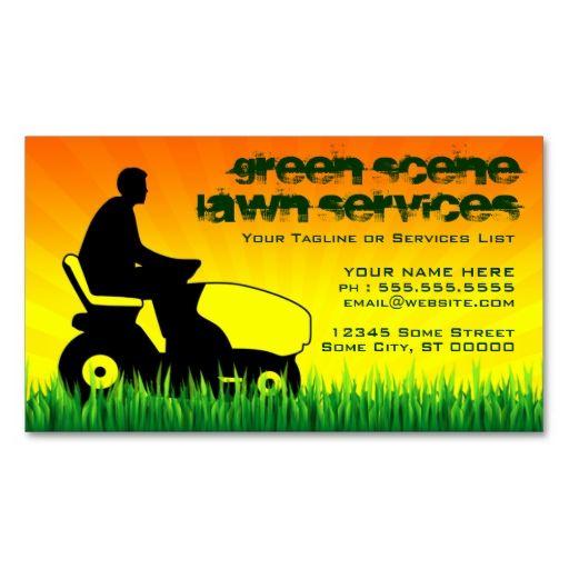 green scene lawn services business card | Zazzle.com ...