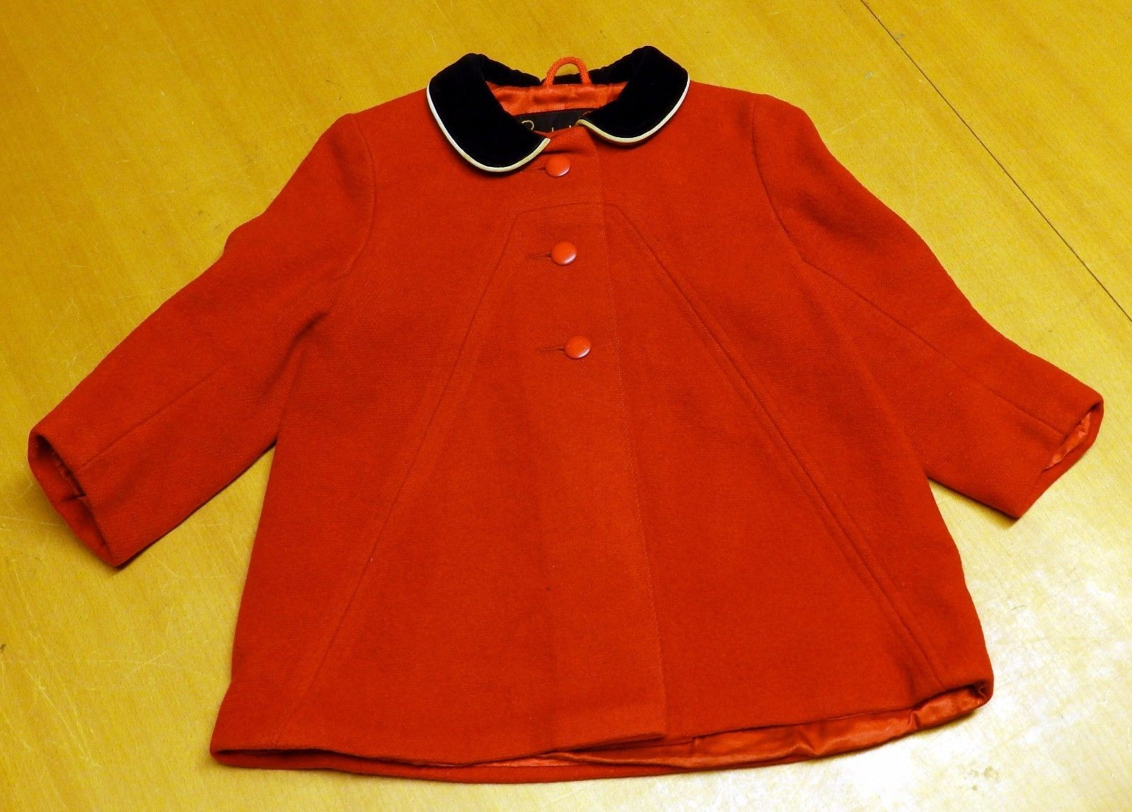 Details about Adorable Vintage 'Ladybird' Childrens Red Coat w ...