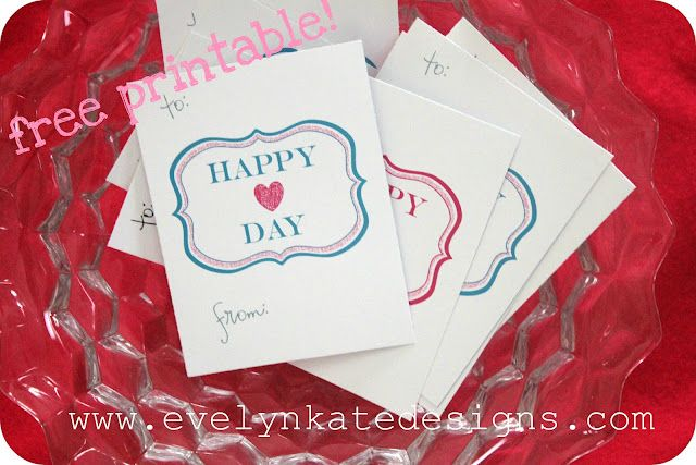 Happy Heart Day - Free Printable