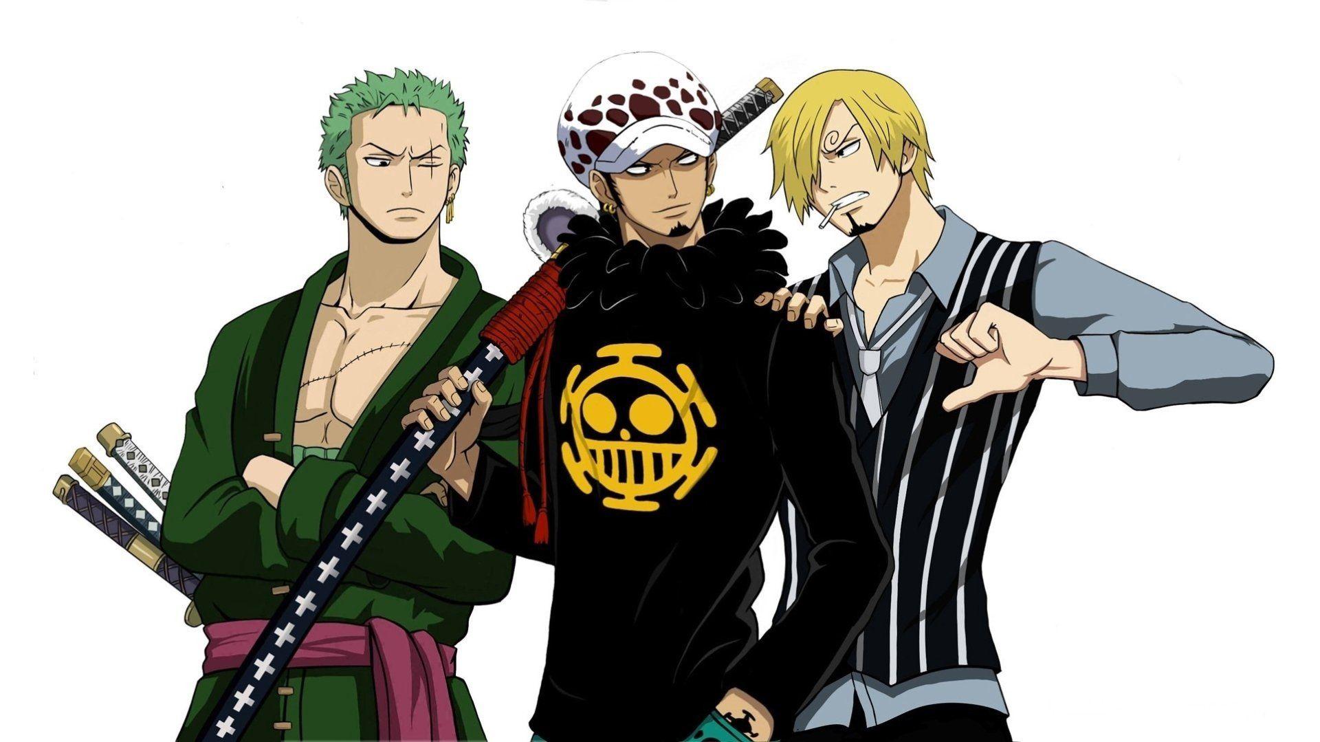 Anime One Piece Zoro Roronoa Trafalgar Law Sanji One Piece