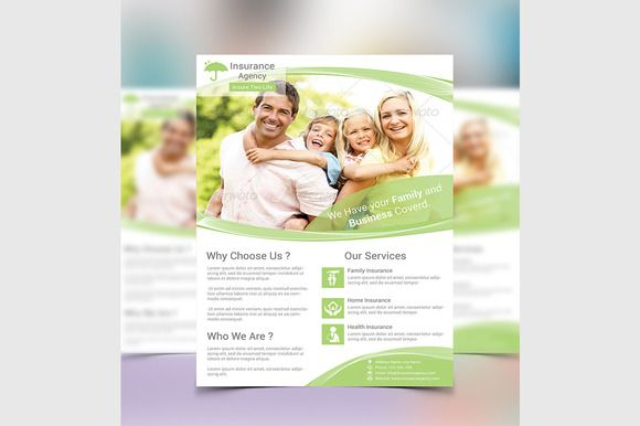 Insurance Flyer Template Flyer template, Creative design and Fonts - insurance flyer templates