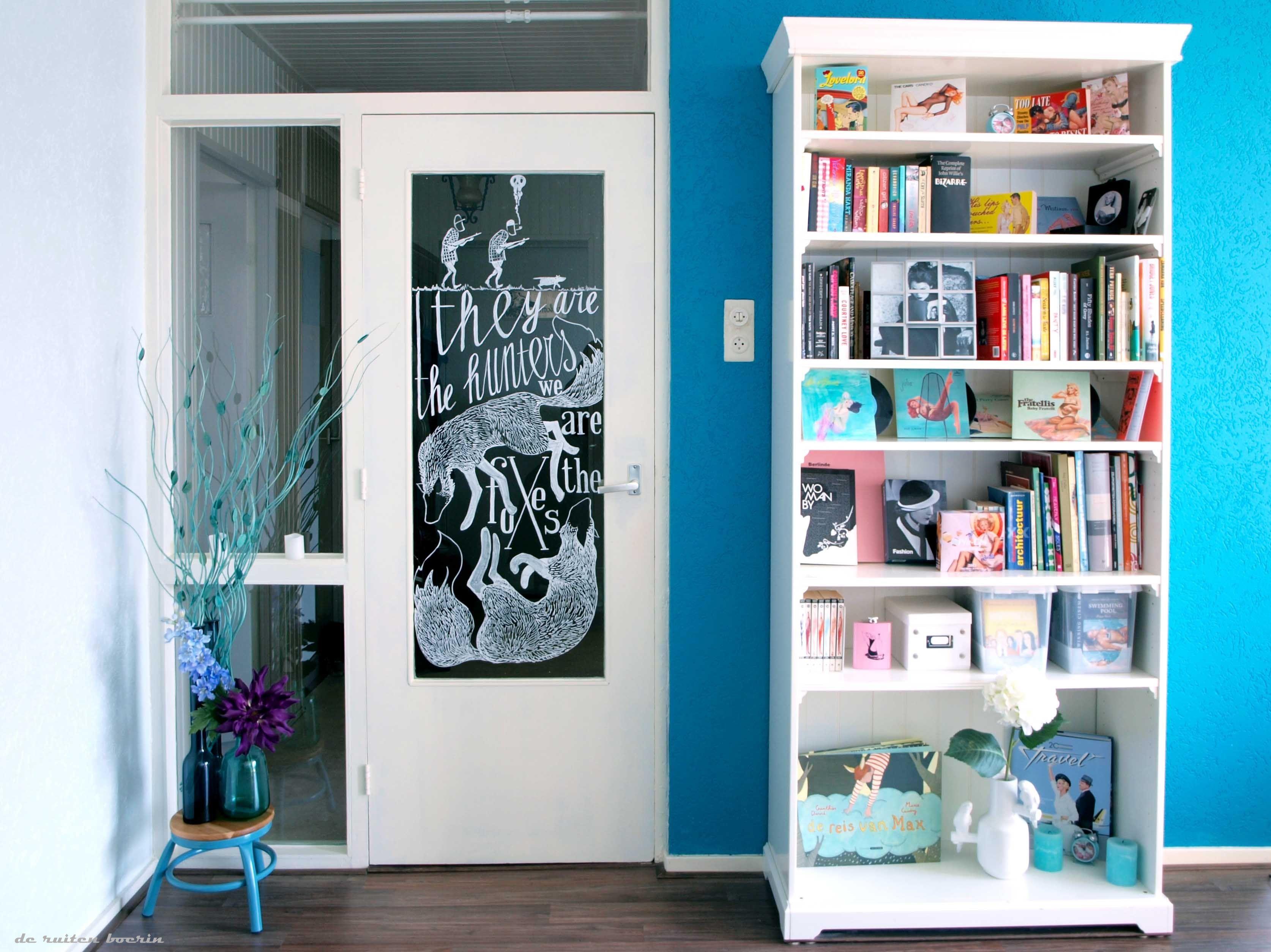 Mooi zo\'n glazen woonkamer deur, maar als het de deur naar de hal ...