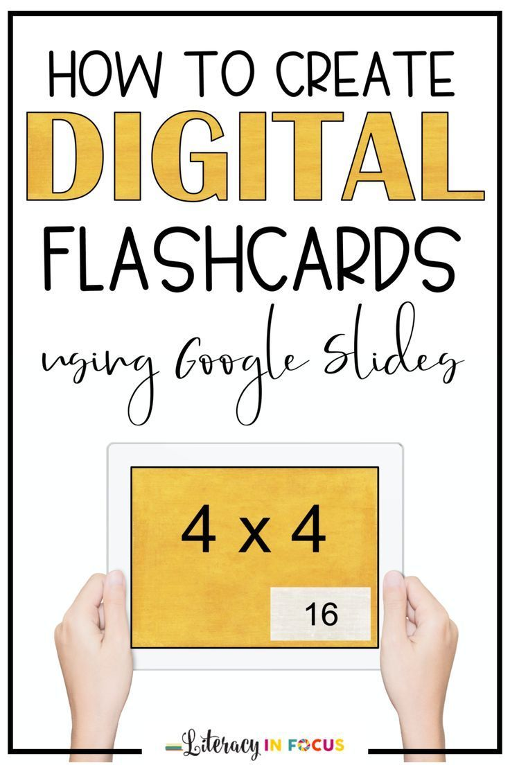 Learn how to create your own unique set of digital flashcards using Google Slides.  Within minutes, you will have flashcards ready to send out to students! via @literacyinfocus