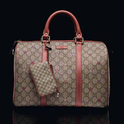 6c619add0d48ba Gucci Joy GG supreme stars canvas boston bag | Bags | Bags, Gucci ...