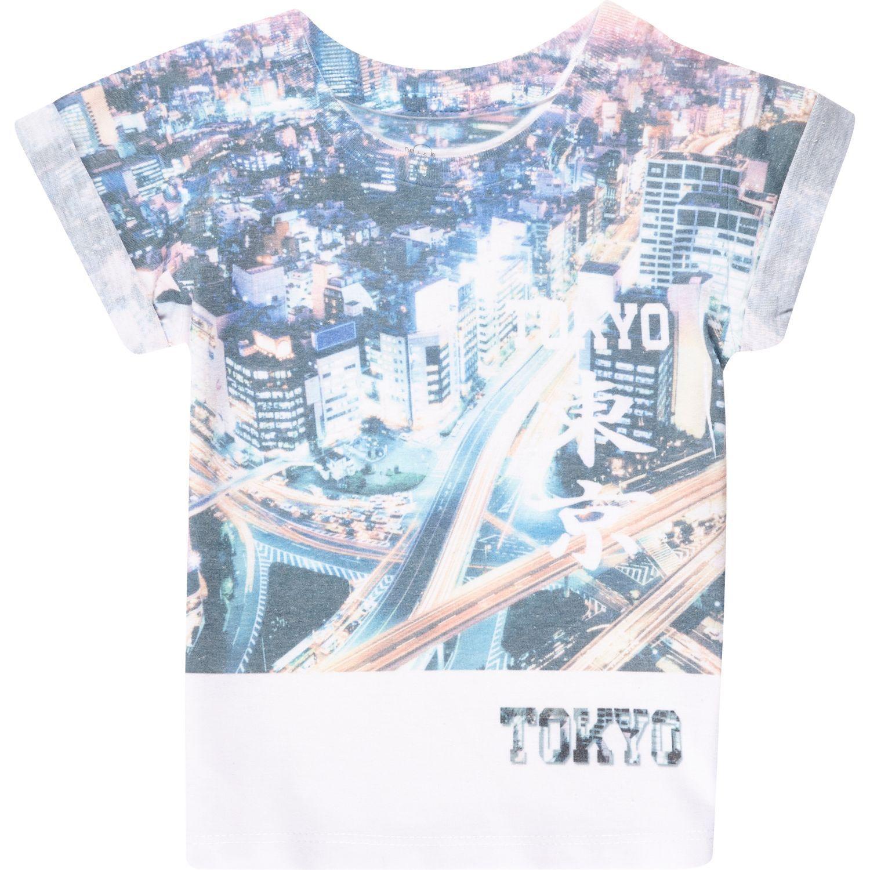 Mini boys white Tokyo print t shirt tops mini boys boys