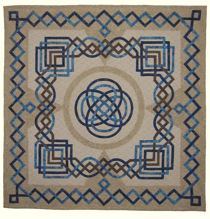 "Celtic Knot quilt by Fran Kordek: ""First Two, Then Four, Now Two Again"",  42 x 42"""