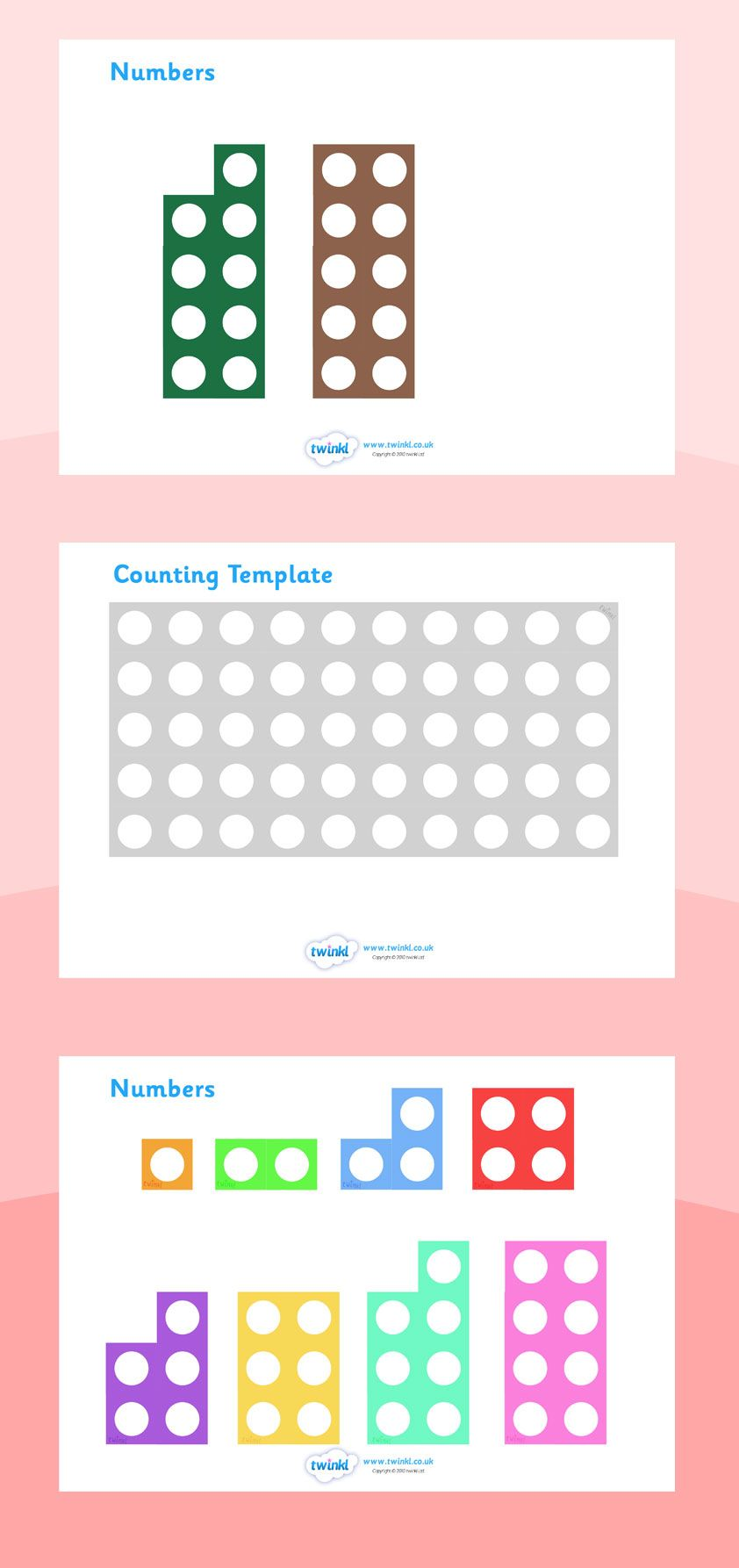 Twinkl Resources Counting Number Shapes Printable Resources