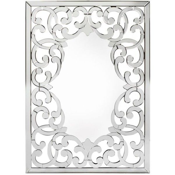 Chloe Mirror ($549) via Polyvore featuring home, home decor, mirrors, mirrored mirror, flower mirror and accent mirrors