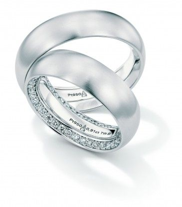 Christian Bauer Platinum Diamond Wedding Bands