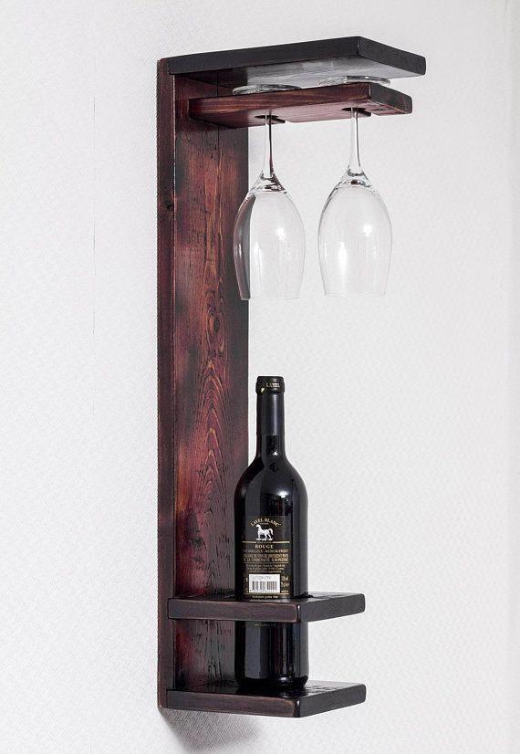 Wood Wine Rack Rustic Wine Shelf Wine Bottle Holder Winerack