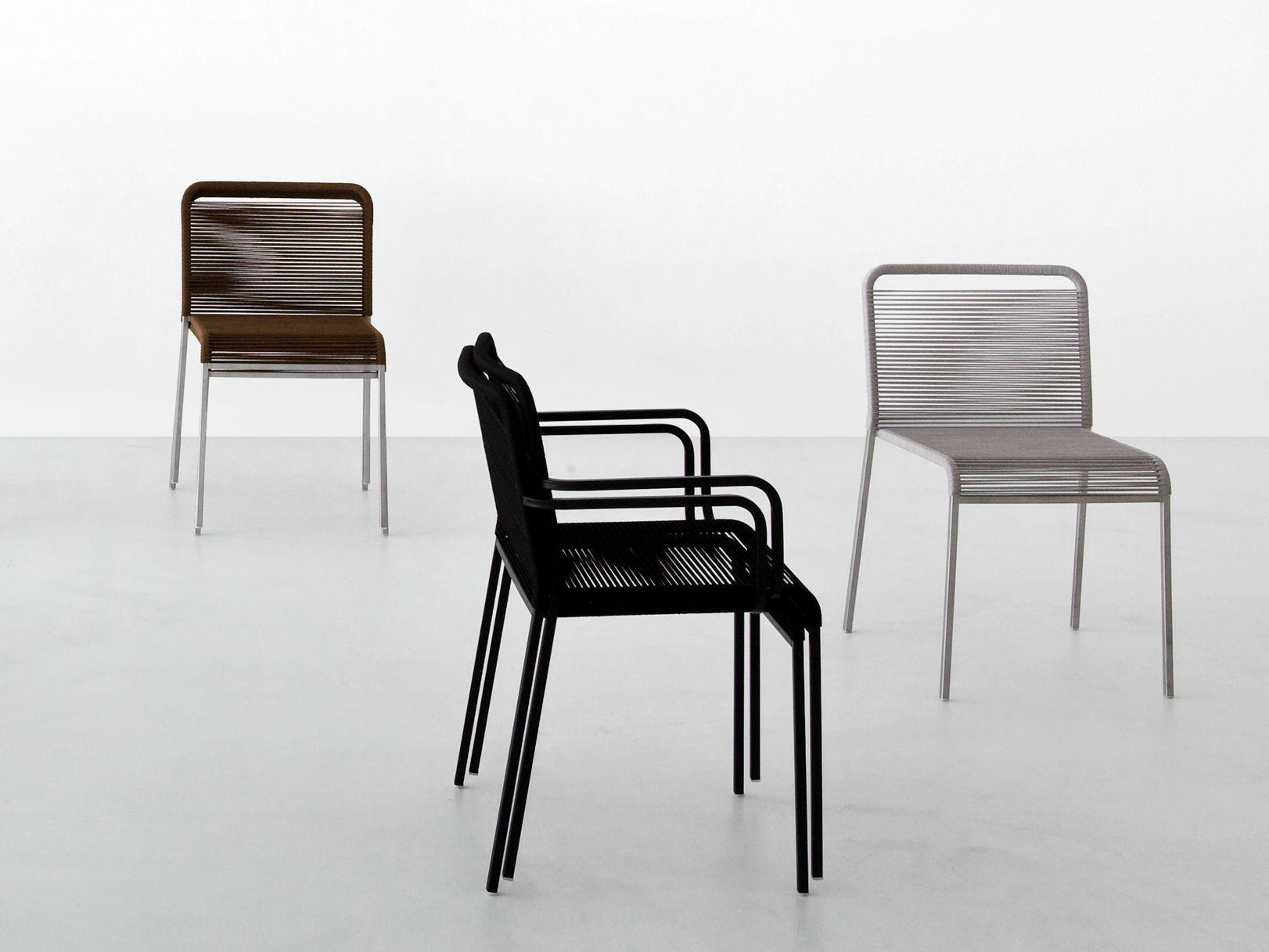 Chaise De Jardin En Polyester Avec Accoudoirs Collection Aria By Lapalma Design Romano Marcato Chaise De Jardin Chaise Accoudoir Design