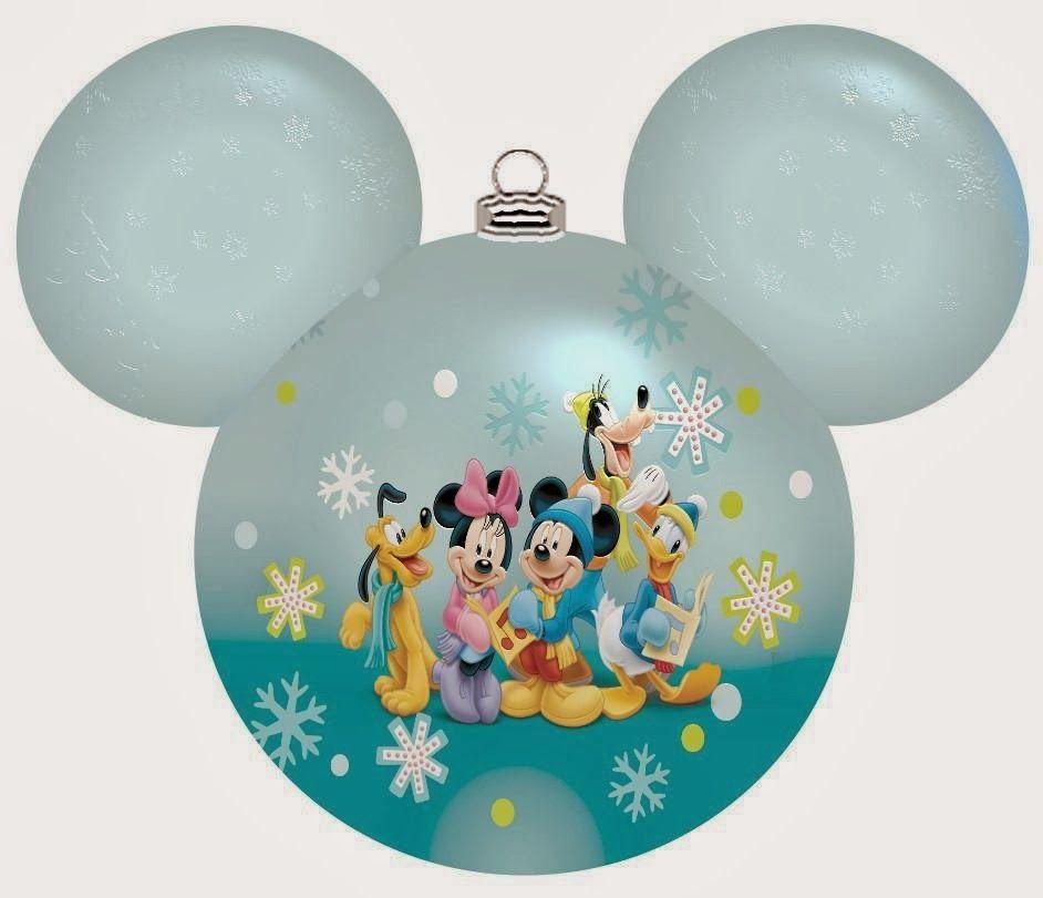 Tiras de cabezas de Mickey para Navidad.