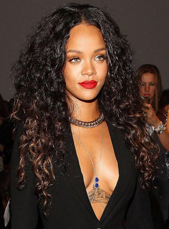 Rihanna Lace Wig Celebrity Style Hair - YouTube