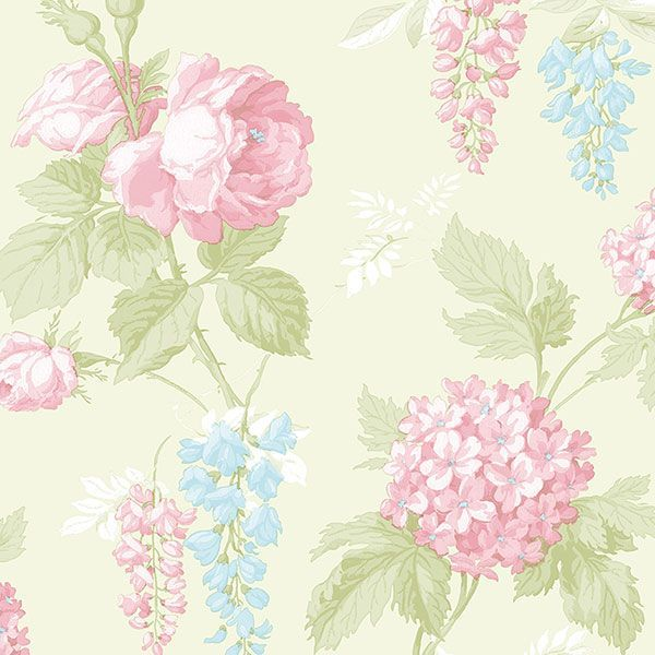 Pin By Stella Christ Siem On Pattern Floral Wallpaper Shabby