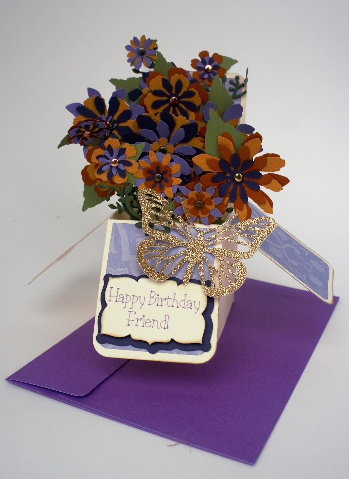 Floral Birthday Box Card Diy projects to try, Birthday