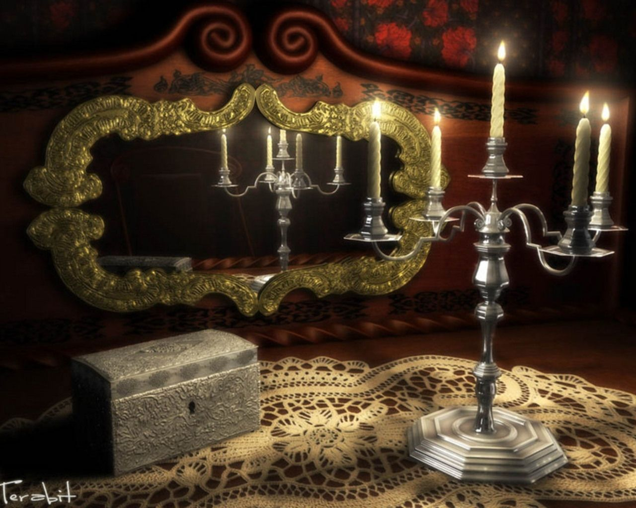 Design Gothic Candles gothic romance candles wallpaper chandeliers wallpaper
