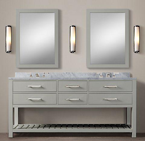 Hutton Washstand Bath Collection FogPolished Nickel RH Baños - Rh bathroom