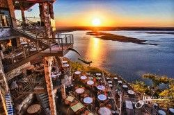 Sunset at the Oasis in Austin, TX