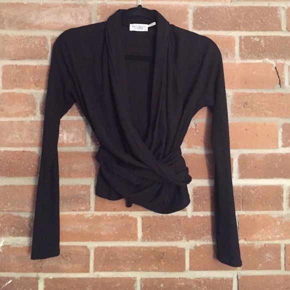 Wrap cardigan Black wrap cardigan. So cute comfy and soft! NO ...