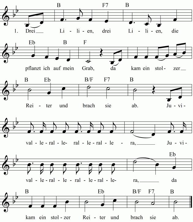Lied Wo Zwei Oder Drei