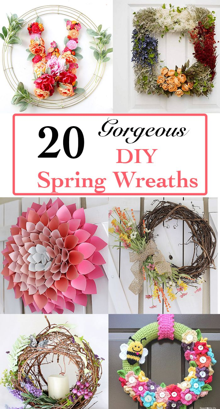 30 Colorful And Cheerful Diy Spring Wreath Ideas Anika S Diy Life Spring Diy Diy Spring Wreath Spring Wreath