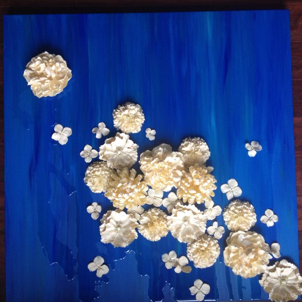 Bloom acrylic painted silk flowers epoxy resin on canvas 36x36 bloom acrylic painted silk flowers epoxy resin on canvas 36x36 www mightylinksfo