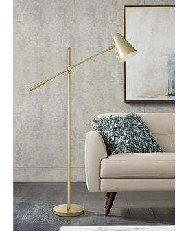 Ottlite Archer Satin Brass Led Pharmacy Task Floor Lamp Floor Lamp Task Floor Lamp Floor Lamp Styles