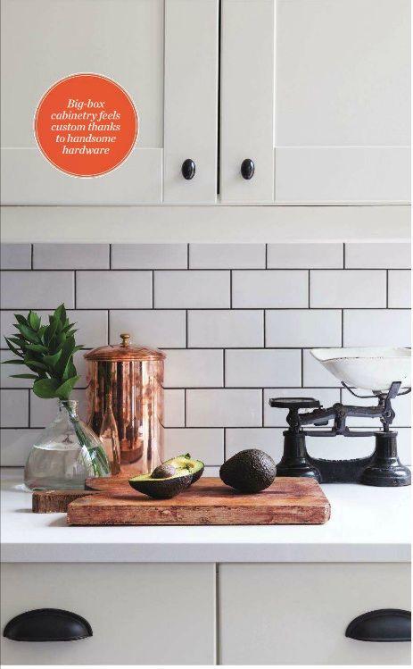 Galley Kitchen White Subway Tiles Kitchen Backsplash Canadian