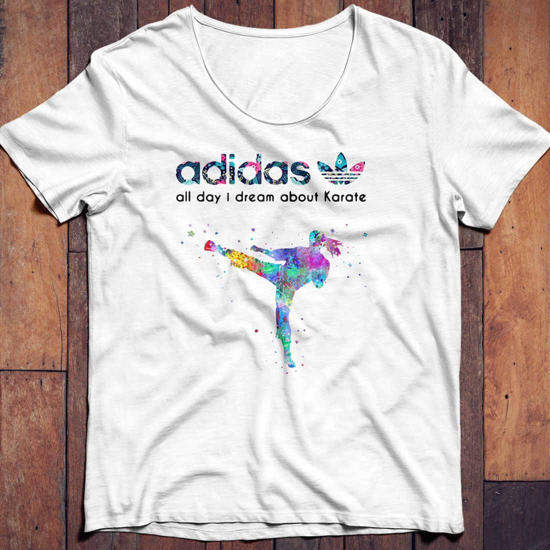 Adidas all day I dream about Karate shirt, hoodie and sweater