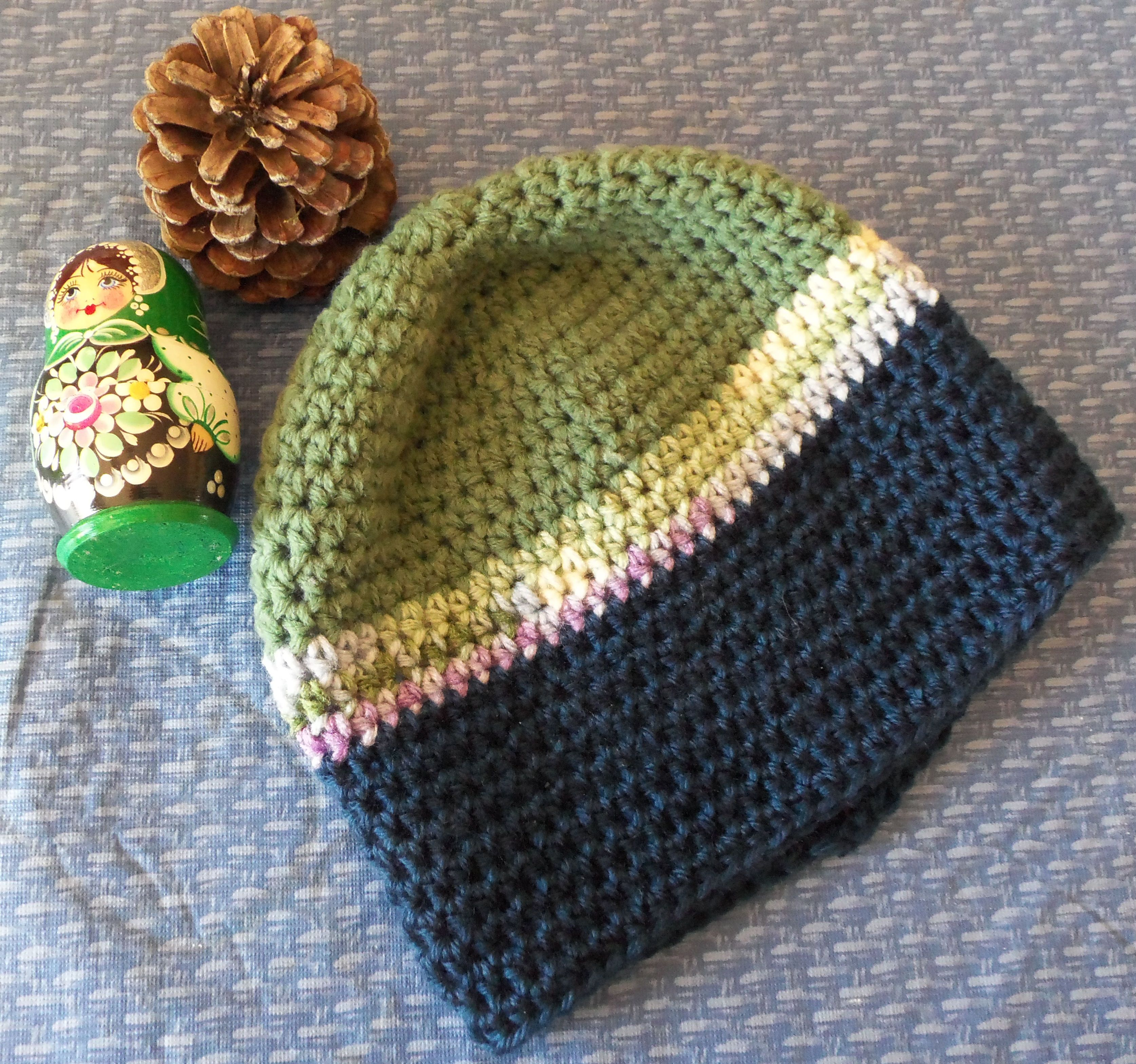 Bev\'s Basic Crocheted Hat ~ Hodge-Podge Beanie -- great way to use ...